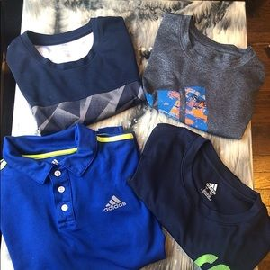 Bundle 4 adidas t shirt , size L 14/16 , Boys